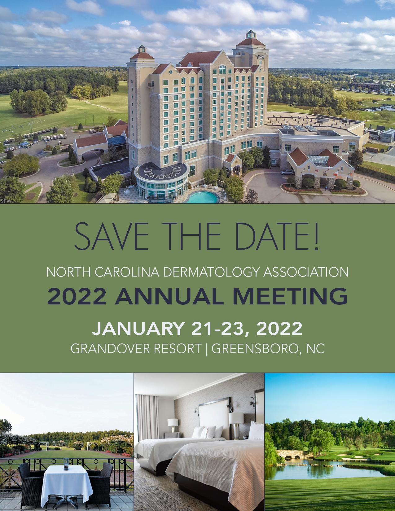 2022 NCDA Save the Date -- Jan. 21-23 at the Grandover Resort in Greensboro, NC