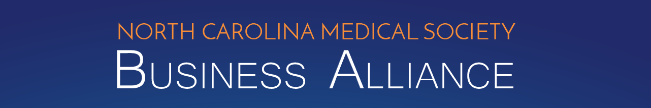 North Carolina Medical Society Business Alliance header