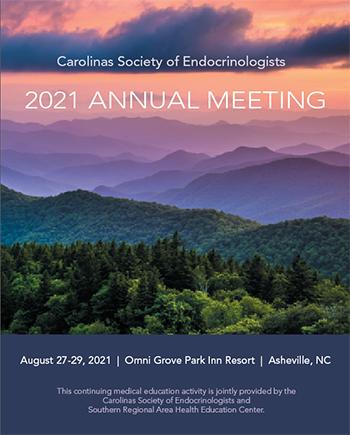 2021 Carolinas Society of Endocrinologists Annual Meeting Brochure
