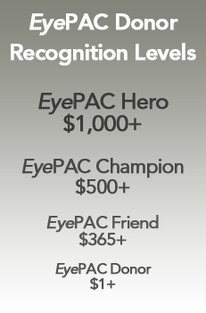 eyepac donor recognition levels