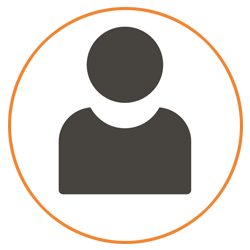 Icon of a person in silhouette